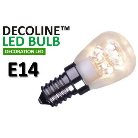 Päronlampa LED Decoline Klar 0,7W E14 Varmvit