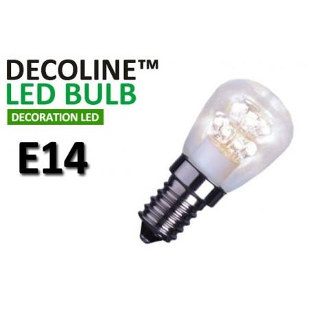 Päronlampa LED Decoline Klar 0,7W E14 Vit