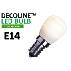 Päronlampa LED Decoline Opal 0,7W E14 Vit