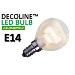 Klotlampa LED Decoline Klar 0,7W E14 Varmvit