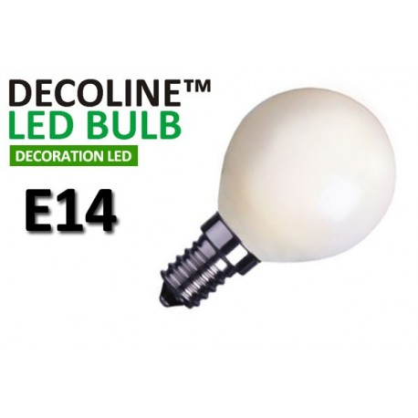 Klotlampa LED Decoline Opal 0,7W E14 Varmvit