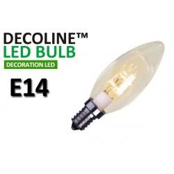 Kronlampa LED Decoline Klar 0,7W E14 Varmvit