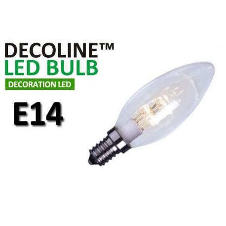 Kronlampa LED Decoline Klar 0,7W E14 Vit