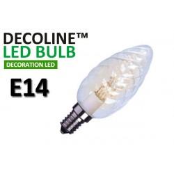 Kronlampa Vriden LED Decoline Klar 0,7W E14 Vit