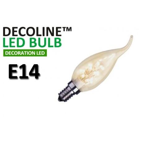 Kronlampa Romance LED Decoline Klar 0,9W E14 Varmvit