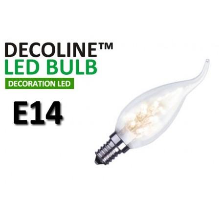 Kronlampa Romance LED Decoline Klar 0,9W E14 Vit