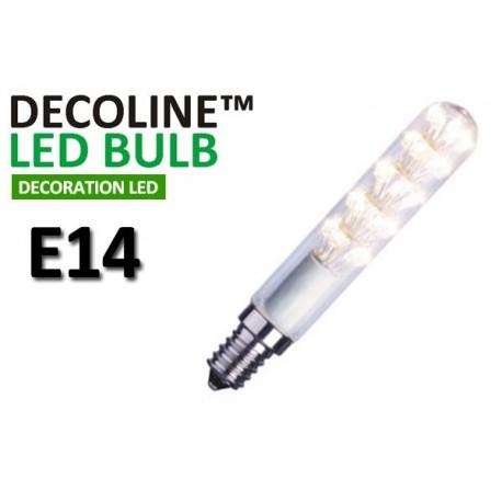 Rörlampa LED Decoline Klar 1,5W E14 Vit