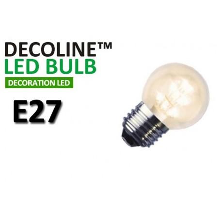 Klotlampa LED Decoline Klar 0,9W E27 Varmvit