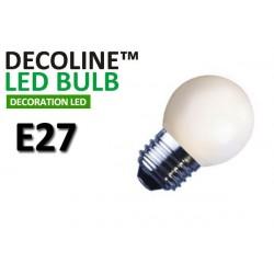 Klotlampa LED Decoline Opal 0,9W E27 Vit