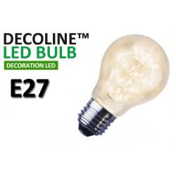 Normallampa LED Decoline Klar 1,4W E27 Varmvit