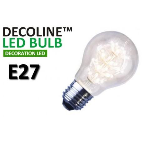 Normallampa LED Decoline Klar 1,4W E27 Vit