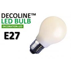 Normallampa LED Decoline Opal 1,4W E27 Vit