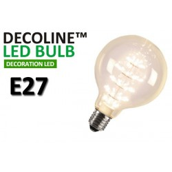 Globlampa LED Decoline Klar 2W E27 Varmvit