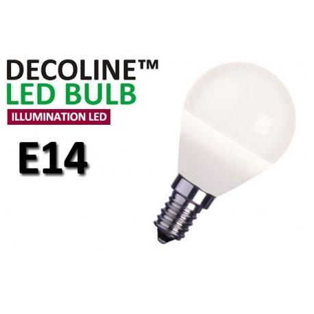 Klotlampa LED Decoline Illumination Opal 2W E14 Varmvit