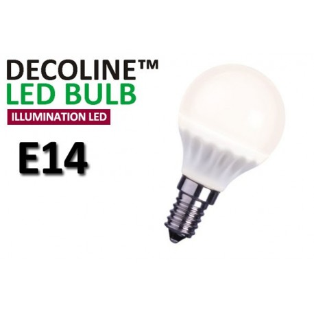 Klotlampa LED Decoline Illumination Opal 3,2W E14 Varmvit