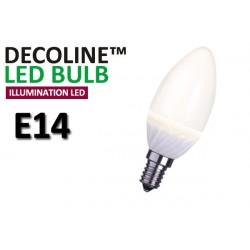 Kronlampa LED Decoline Illumination Opal 3,2W E14 Varmvit
