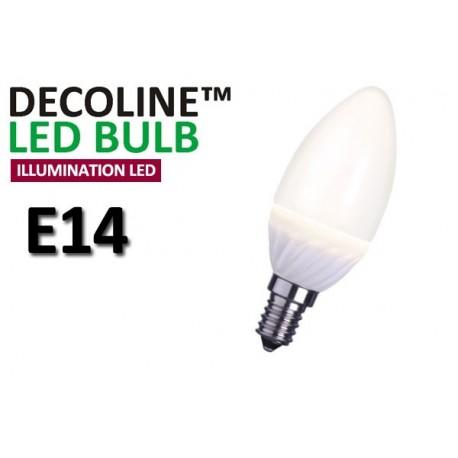 Kronlampa LED Decoline Illumination Opal 3,2W E14 Varmvit