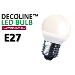 Klotlampa LED Decoline Illumination Opal 2W E27 Varmvit