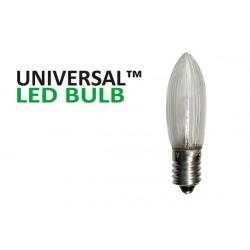 Universal LED E10 Klar 3-Pack