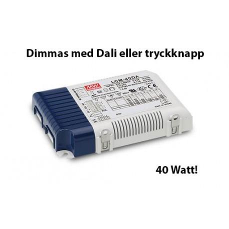 LCM-40DA MeanWell Dali dimmbar multidrivare 40 Watt