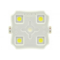10-Pack LED-modul 4 dioder 12V 1Watt