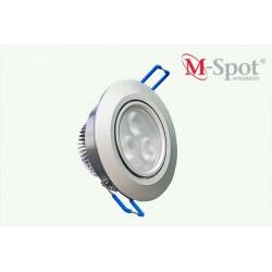 M-spot integrated, Frostad Silver, Vinklingsbar armatur 1-7 Watt