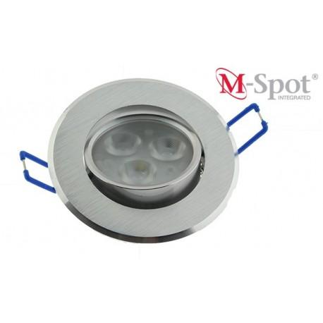 M-spot integrated, Borstad alu, Vinklingsbar armatur 1-7 Watt