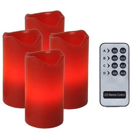 Vaxljus LED 4-pack Batteristyrt med fjärrkontroll