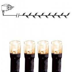 Serie LED Svart ljusslinga 40 ljus