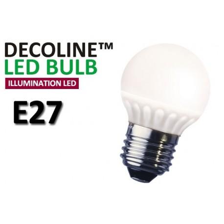 Klotlampa LED Decoline Illumination Opal 3,2W E27 Varmvit