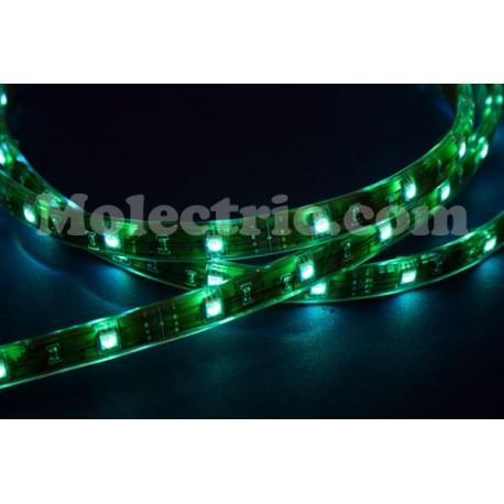 """LED-tejp """"Super 1"""" Grön 100 Lumen/m Lödfri skarvning!"""