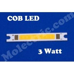 COB LED, Rektangulär, Varmvit 3 Watt