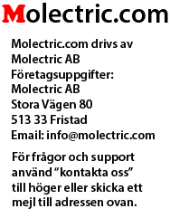 Molectric.com Ledbelysning på nätet